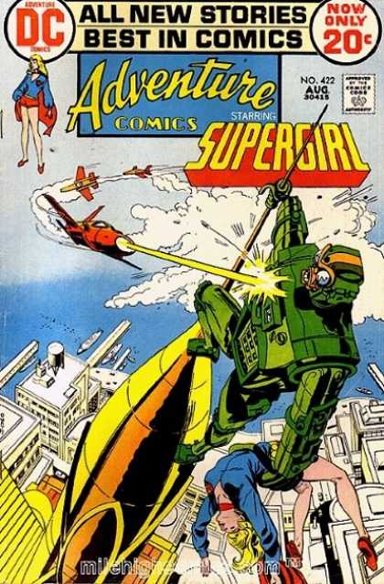 Adventure Comics 422 - Supergirl - Airplanes - Gorilla In Mechanical Suit - Top Of Pinnacle - All New Stories - Bob Oksner