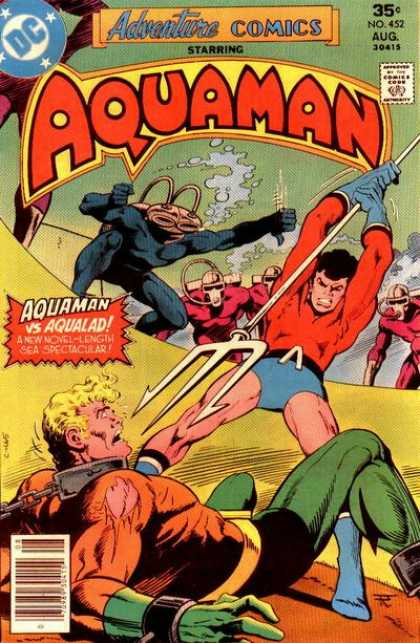 Adventure Comics 452 - Aquaman - Adventure Comics - 35 - Aqualad - Starring - Jim Aparo