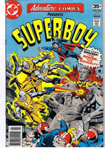 Adventure Comics 456 - Statue - Superboy - Power - Football