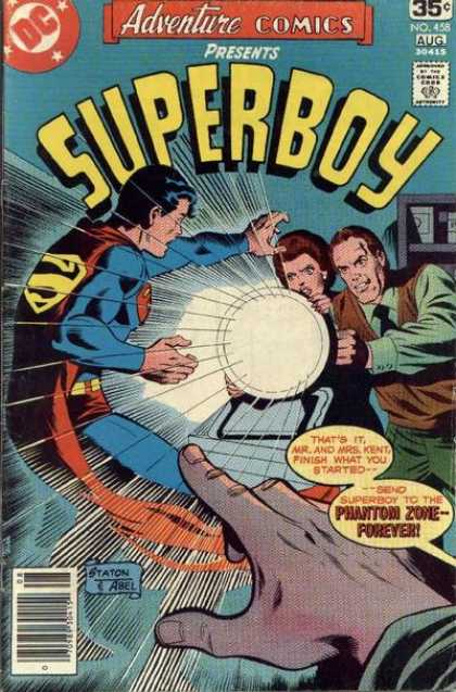 Adventure Comics 458 - Superboy - Fist - Reflector - Phantom Zone Forever - Dc - Joe Staton