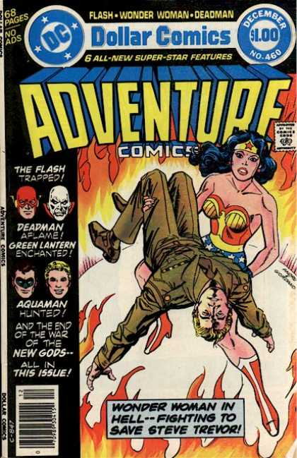 Adventure Comics 460 - Flash - Aquaman - Green Latern - Deadman - Wonder Woman - Dick Giordano, Ross Andru