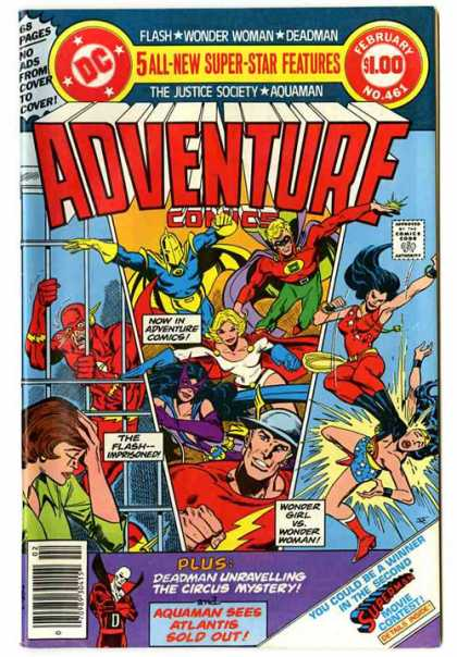 Adventure Comics 461 - Wonder Woman - Flash - Wonder Girl - Deadman - Jim Aparo