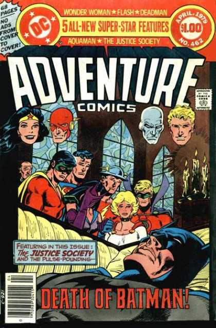 Adventure Comics 462 - Batman - Wonder Woman - Aquaman - Coffin - Robin - Jim Aparo