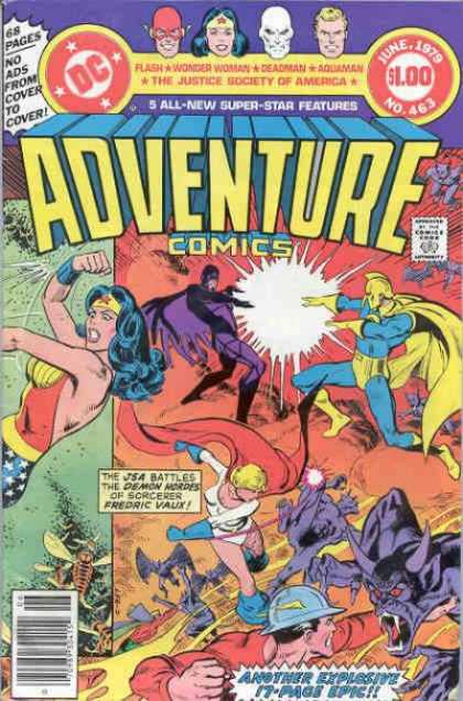 Adventure Comics 463 - Flash - Wonder Woman - Power Girl - 68 Pages - No Ads From Cover To Cover