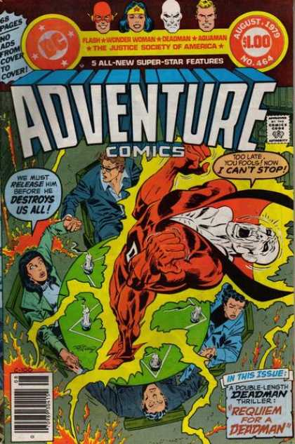 Adventure Comics 464 - Flash - Wonder Woman - Deadman - Aquaman - Seance - Jim Aparo