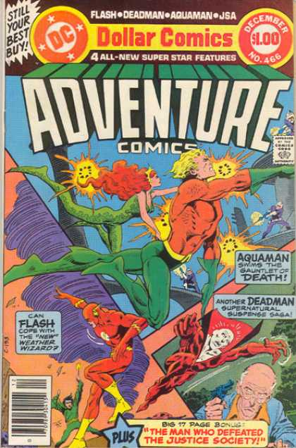 Adventure Comics 466 - Aquaman - Flash - Deadman - Jim Aparo