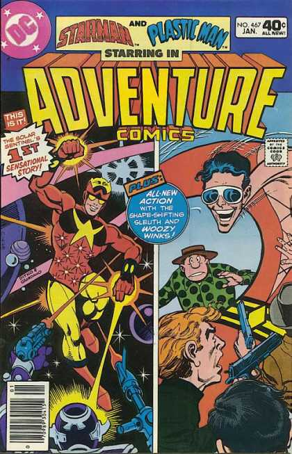 Adventure Comics 467 - Dc - Starman - Plastic Man - Comics Code - Costumes - Dave Cockrum, Dick Giordano