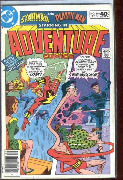 Adventure Comics 468 - Starman - Dc - February - Plastic Man - Speech Bubble - Jim Aparo