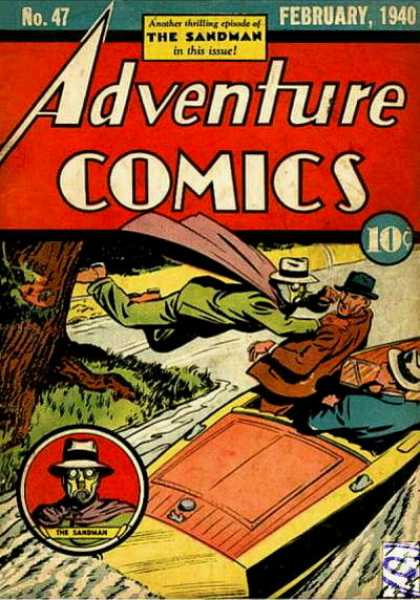 Adventure Comics 47 - Sandman - Boat - Tree - No 47 - February 1940