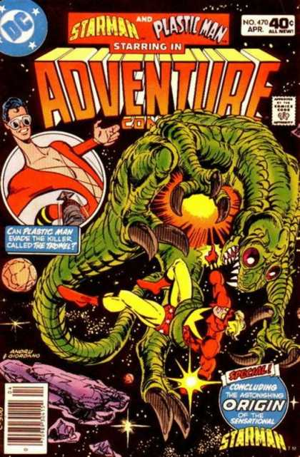 Adventure Comics 470 - Plastic Man - Starman - Space - Alien - Dick Giordano, Ross Andru