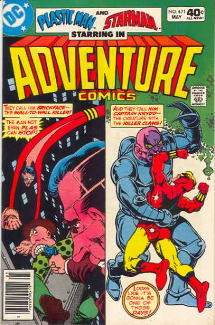 Adventure Comics 471 - Plastic Man - Starman - Jim Starlin