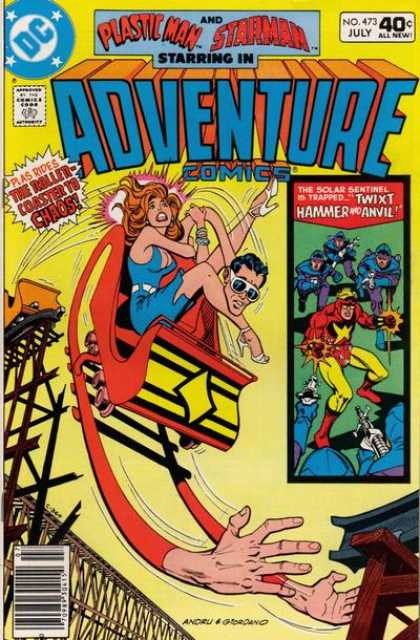 Adventure Comics 473 - Roller Coaster - Plastic Man - Dick Giordano, Ross Andru