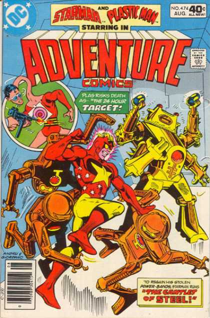 Adventure Comics 474 - Plastic Man - Starman - Dc Comics - Bronze Age - Robots - Dick Giordano, Ross Andru