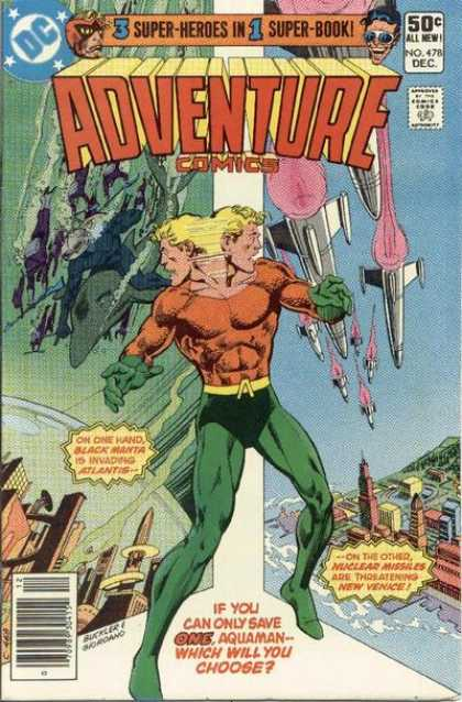Adventure Comics 478 - Aquaman - Atlantis - Rockets - Dick Giordano, Richard Buckler