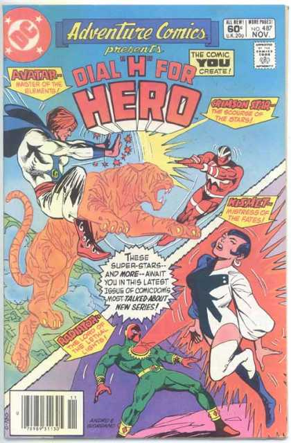 Adventure Comics 487 - Dial H For Hero - Avatar - Crimson Star - Kesmet - Radiator - Dick Giordano, Ross Andru