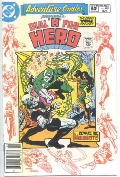 Adventure Comics 489 - Marionette - Dc - Comics Code - Dial H For Hero - Battle - Dick Giordano, Ross Andru