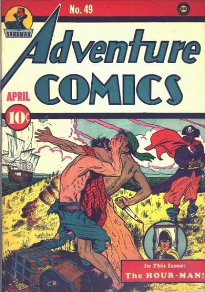 Adventure Comics 49 - Hour-man - Pirate - Ship - Sandman - Pirates - Sheldon Moldoff