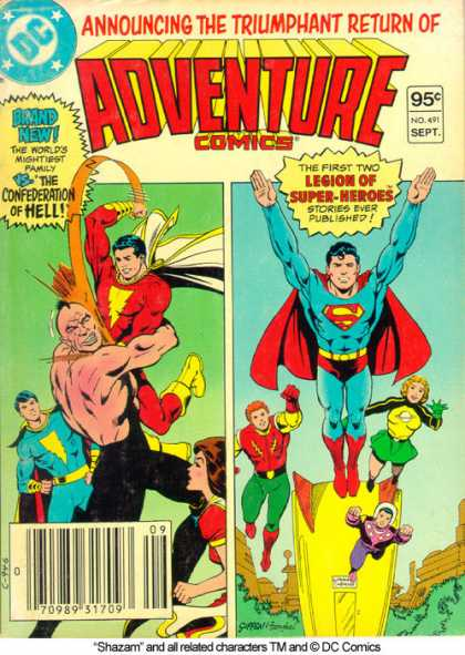 Adventure Comics 491 - Superman - Triumphant - Return - Green - Blue - Keith Giffen