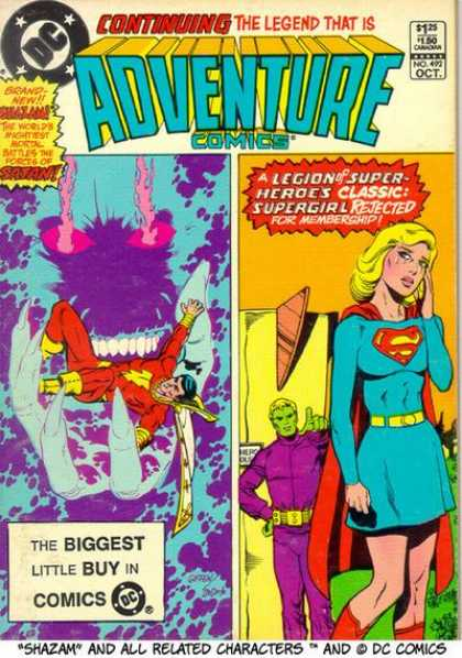 Adventure Comics 492 - Shazam - Supergirl - Demon - Claw - Cape - Keith Giffen