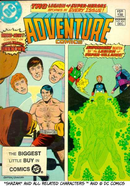 Adventure Comics 494 - Challengers Of The Unknown - Superman Beaten By The Legion Of Super Villains - 125 No 494 Dec - Dc - Shazam - Keith Giffen