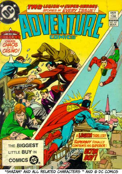 Adventure Comics 497 - Superboy - Ultra Boy - Casino - Money - Fight