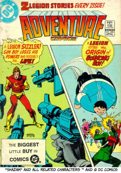 Adventure Comics 498 - Sun Boy - Bouncing Boy - Shazam - 2 Legion Stories Every Issue - Dc Comics