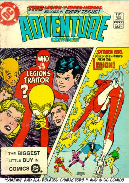 Adventure Comics 499 - Shazam - Saturn Girl - Legion Of Superheroes - Ailien - Old