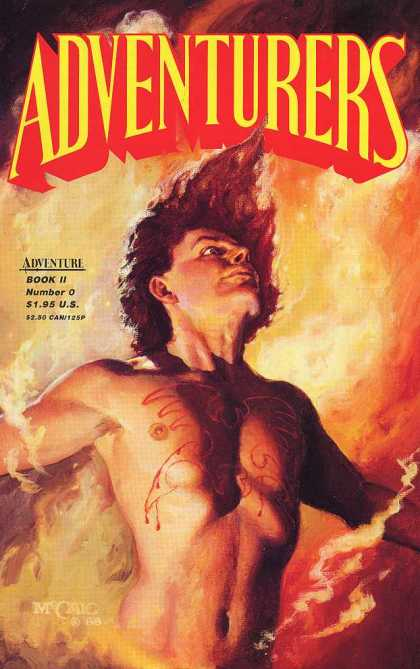 Adventurers 2 0 - Adventuresrs - Super Hero Man - Tatoo On Chest - Flames - Long Hair