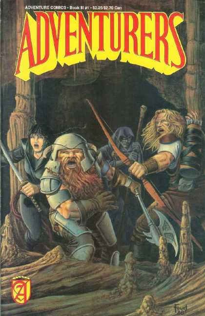 Adventurers 3 1 - Man - Sword - Axe - Armor - Monster