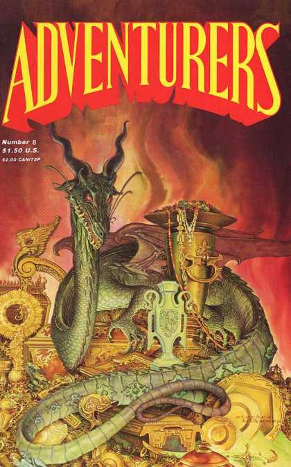 Adventurers 8 - Number 8 - 8 - Dragon - Red Cover - 150