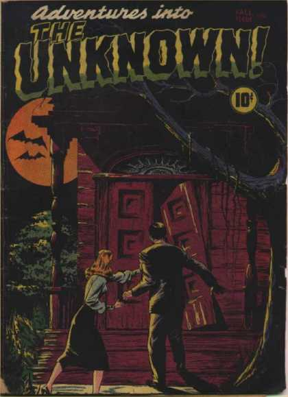Adventures Into the Unknown 1 - Full Moon - Bats - Haunted House - Tree Branch - Blonde