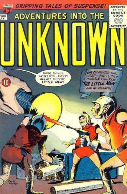 Adventures Into the Unknown 108 - Gripping - Tales - Suspense - Comics - Flashlight