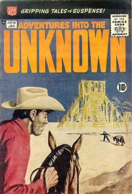 Adventures Into the Unknown 113 - Horse - Mirage - Cowboy - Desert - Donkey