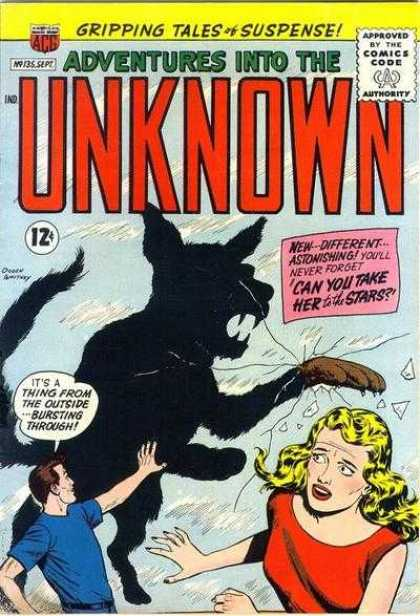 Adventures Into the Unknown 135 - Down And Out - In A Glass Box - Super Dogs - Outside World - Going Crazy