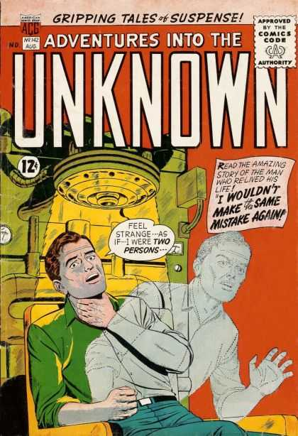 Adventures Into the Unknown 142 - Gripping - Suspense - Comics Code - Acg - Tales