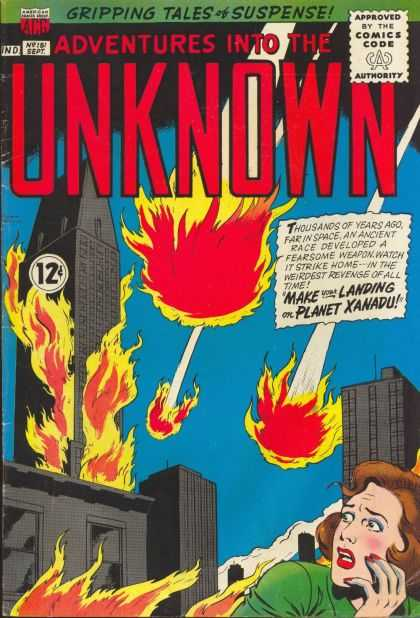 Adventures Into the Unknown 151 - Fire - Meteor - Woman - City - Trgedy