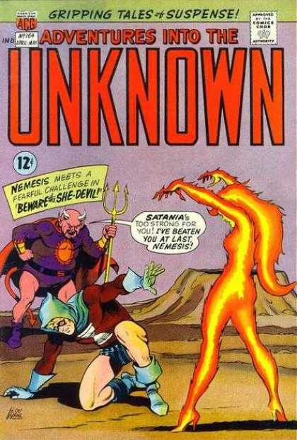 Adventures Into the Unknown 164 - Nemesis - Satania - Gripping Tales Of Suspense - Fearful Challenge - Beware Of The She-devil