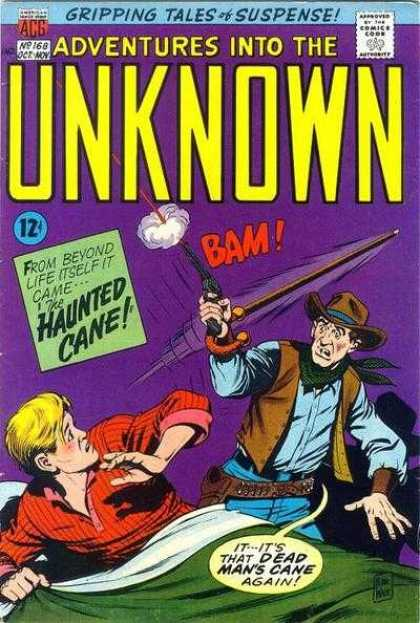 Adventures Into the Unknown 168 - Gripping Tales Of Suspense - No 168 - Haunted Cane - Bam - Cowboy