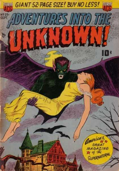 Adventures Into the Unknown 23 - Vampire - Victim - Wife - Bloodsucker - Bats