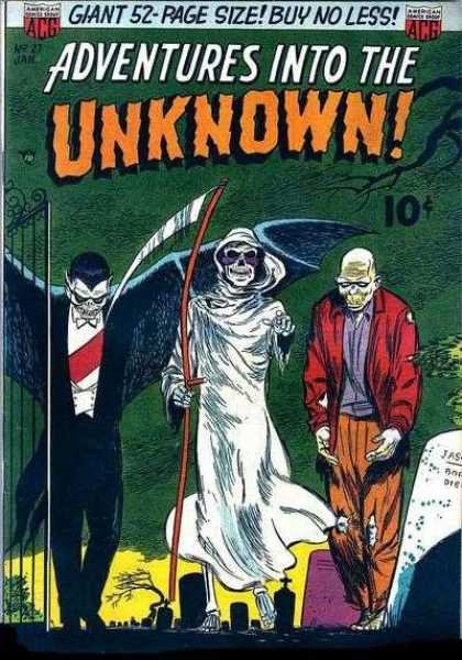 Adventures Into the Unknown 27 - This Better Be Halloween - Three Friends - Party In The Cemetary - Vampire Death Zombie - Oh My - Taking A Walk Into The Unknown