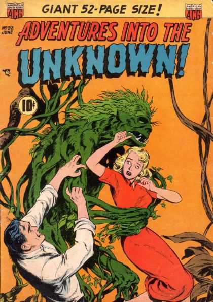 Adventures Into the Unknown 32 - Green Giant - Pretty Girl - Adventure - Rescue - Help