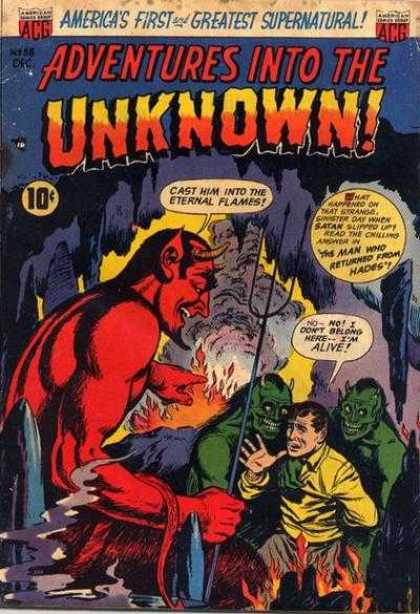 Adventures Into the Unknown 38 - Devil - Hell - Fume - Flame - Monster