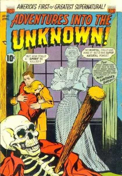 Adventures Into the Unknown 42 - Ghost - Skeleton - Stake - Supernatural - Mortal