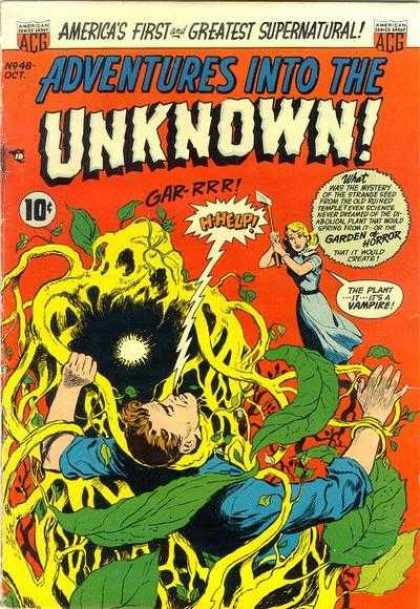 Adventures Into the Unknown 48 - Garden Of Horror - Vampire - Mystery - Spring - Help