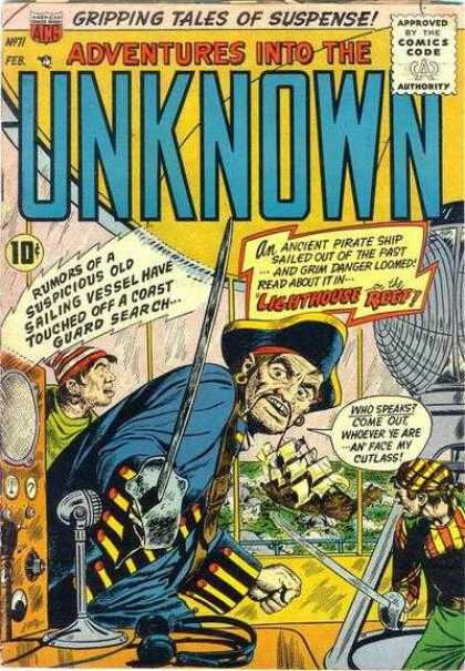 Adventures Into the Unknown 71 - Captain - Sea - Pirates - Ship - Adventure