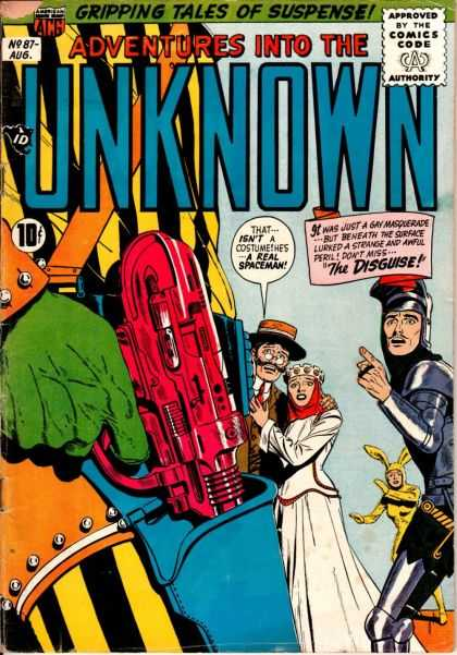 Adventures Into the Unknown 87 - Red Gun - Spaceman - Knight In Armor - Yellow Rabbit Suit - Crowned Woman