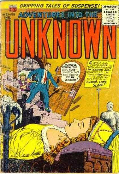 Adventures Into the Unknown 93 - Sleeping - Woman - Knight - Men - Ancient