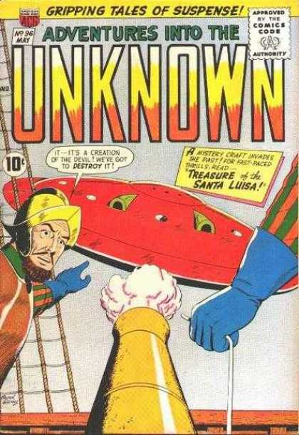 Adventures Into the Unknown 96 - Spaceship - Canon - Conquistador - Treasure Of The Santa Luisa - Blue Glove