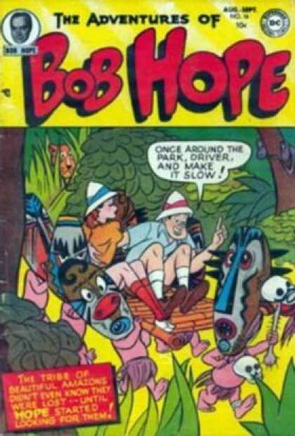 Adventures of Bob Hope 16 - Jungle - Trees - Masks - Natives - Woman