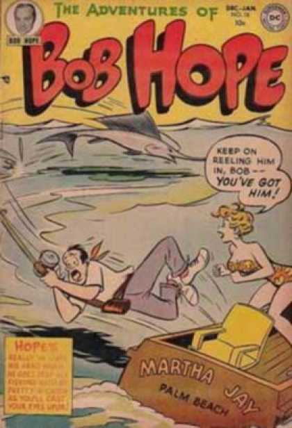 Adventures of Bob Hope 18 - Dc - Speech Bubble - Fish - Water - Blonde